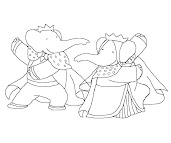 #9 Babar Coloring Page