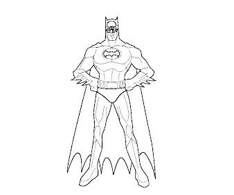 #8 Batman Coloring Page