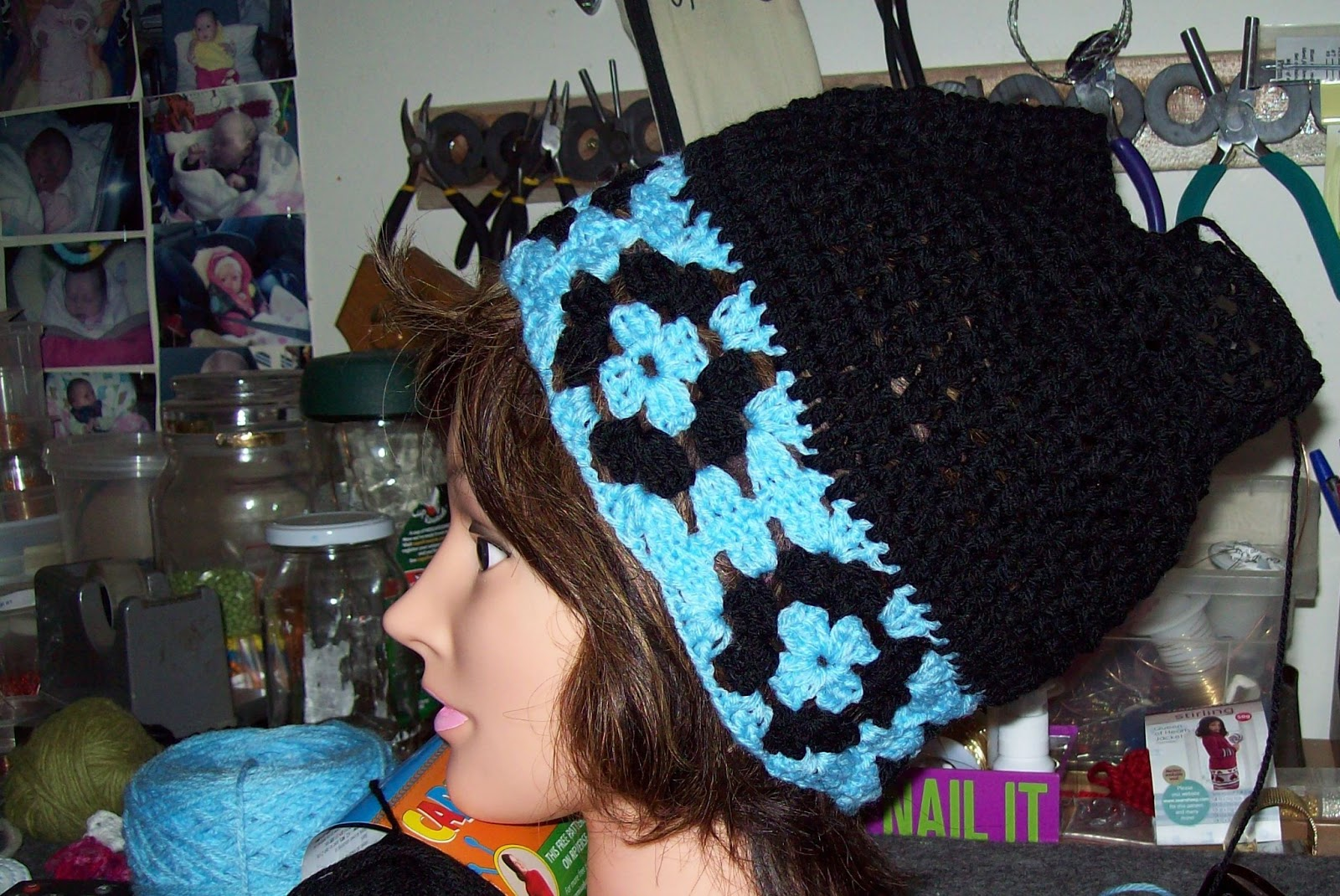 Granny Edge Slouch Haton Measuring Hat Size Ch