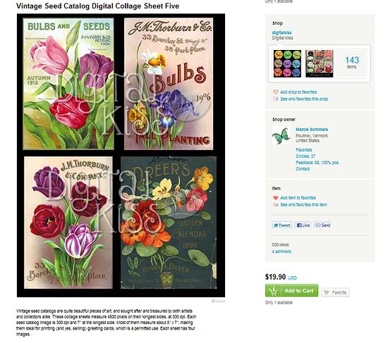 Vintage Seed Company catalog copyright violation