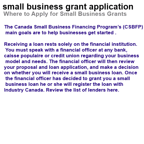 small business grant application - The Truth About It