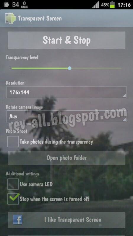 Contoh hasil Transparent Screen - aplikasi android untuk menjadikan layar transparan (rev-all.blogspot.com)