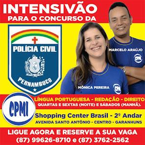 INTENSIVÃO PARA O CONCURSO DA POLÍCIA CIVIL.