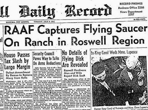 Announcement was made by the public information office at Roswell Army Air Field on Tuesday, July 8, 1947