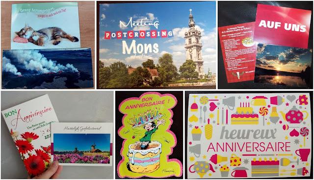 postcrossing, cartes postales, bullelodie