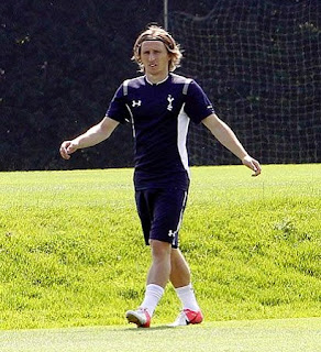 Luka Modric training in London