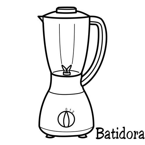 Dibujos para colorear utensilios de cocina for Dibujos de cocina