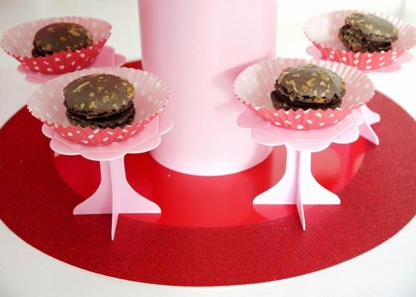 sweet table noel rouge rose