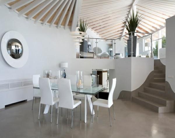 10 fotos de comedores blancos colores en casa for Comedor moderno blanco