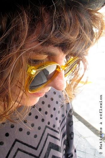 Lunettes de soleil Spitfire jaune : les Anorak