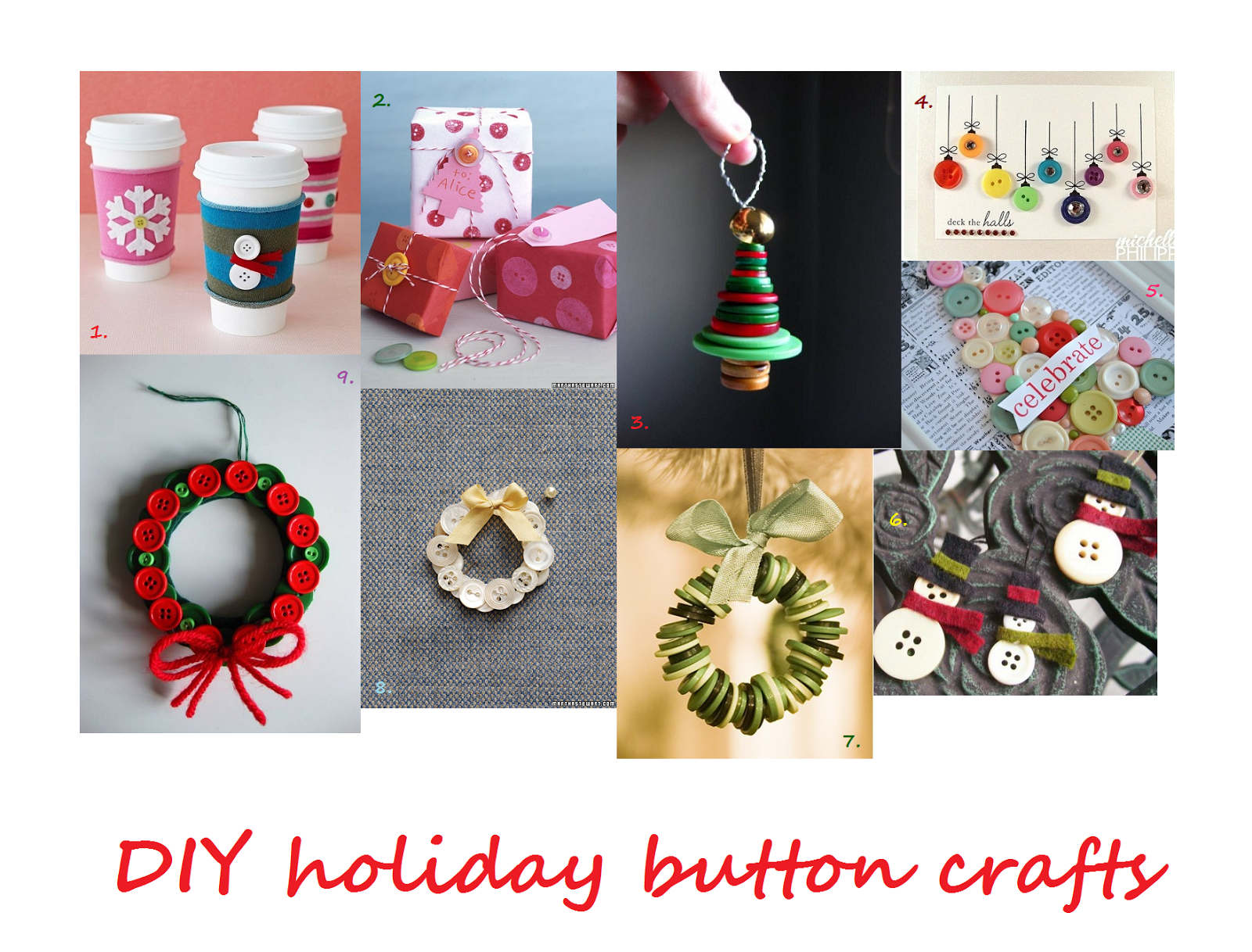 Holiday Crafts Made From Buttons http://turkishlydelightful.blogspot.com/2012/12/25-days-of-ornaments-button-trees.html