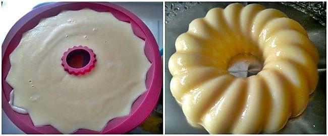 Preparación de la tarta fría de quesitos