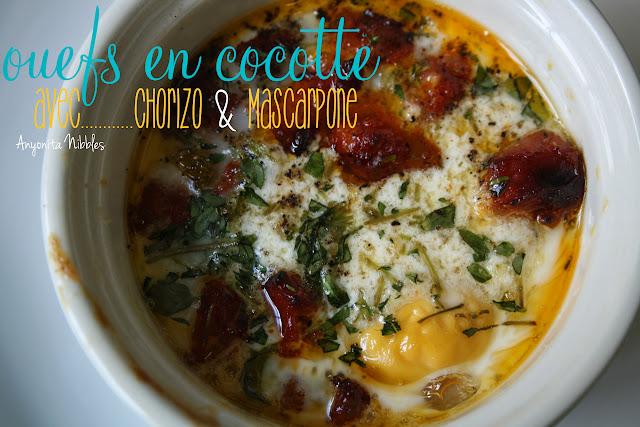 Ouefs en Cocotte avec Chorizo & Mascarpone
