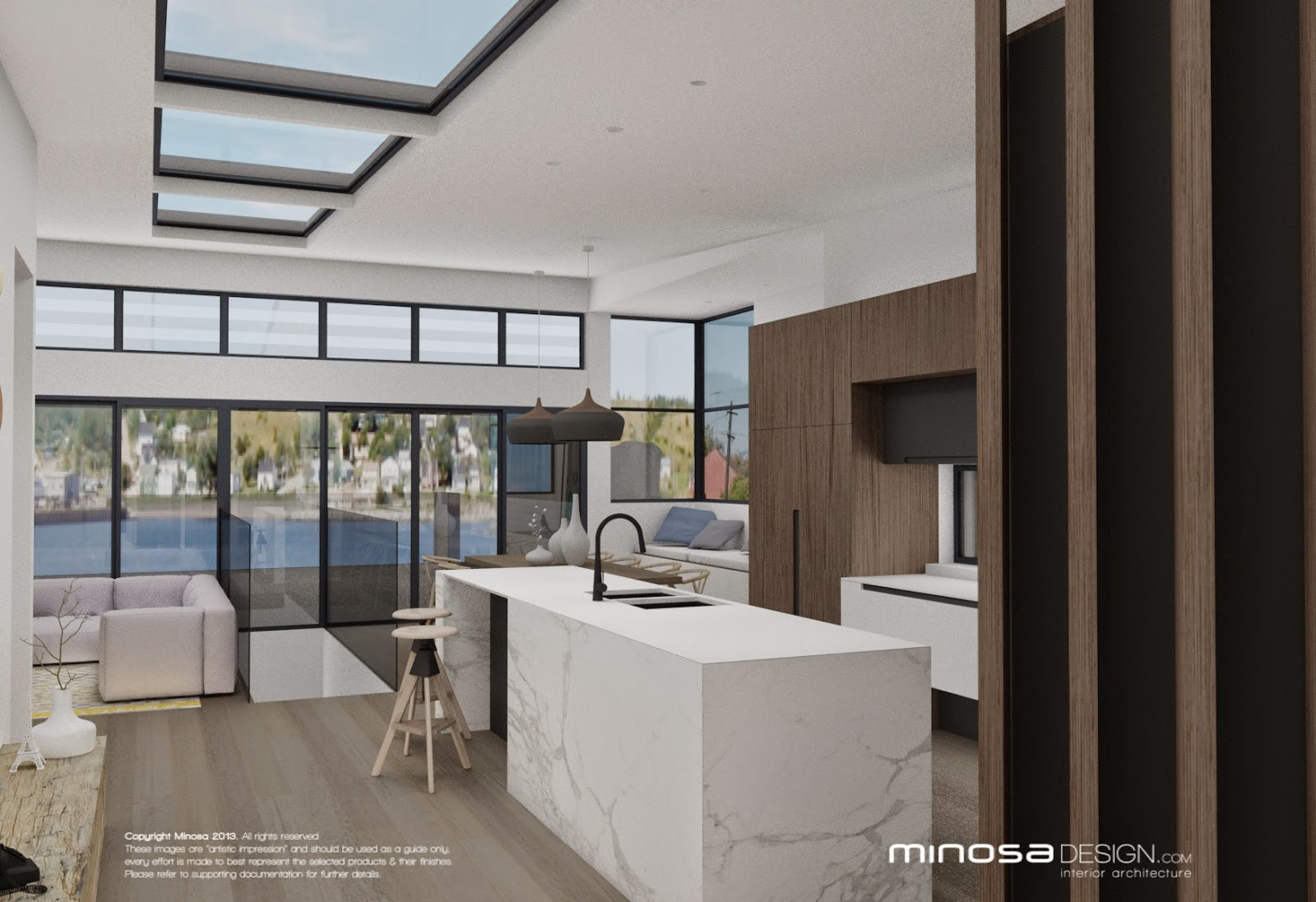 Minosa The Modernliving Room Centred Around The Kitchen. Kitchen Renovation  ...