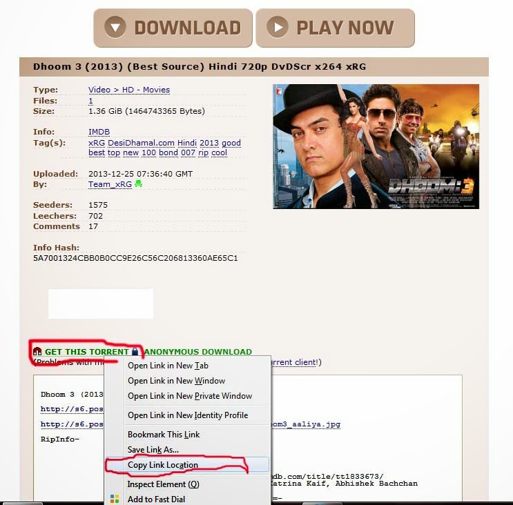 the pirate bay,dhoom3,torrent dhoom 3