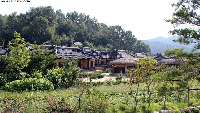 Aldea tradicional Museom de Corea del Sur