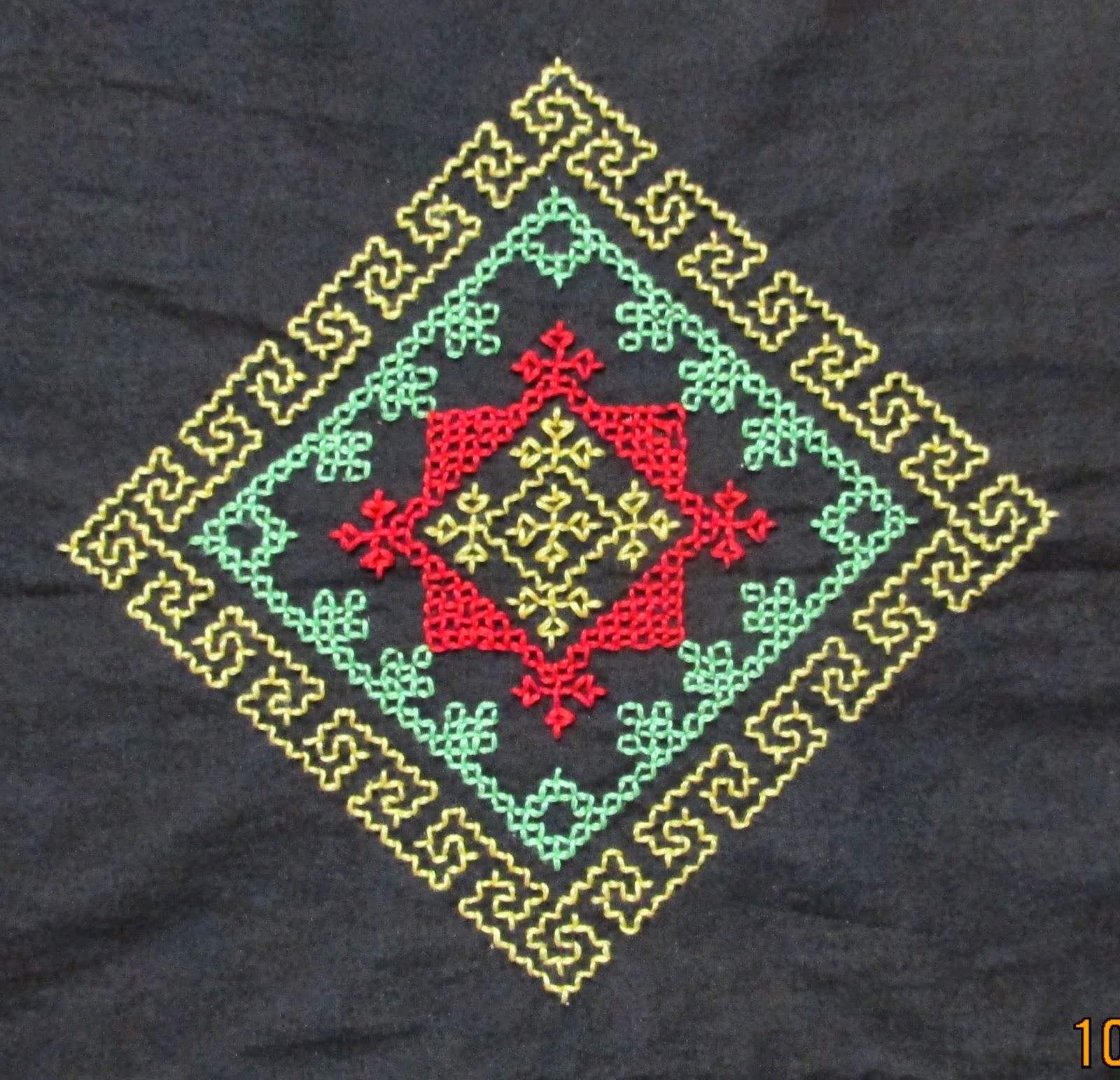 My Craft Works Kasuti Motif For Border