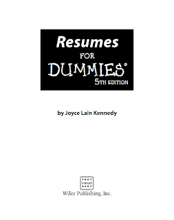 Resumes For Dummies Mediafire Ebook