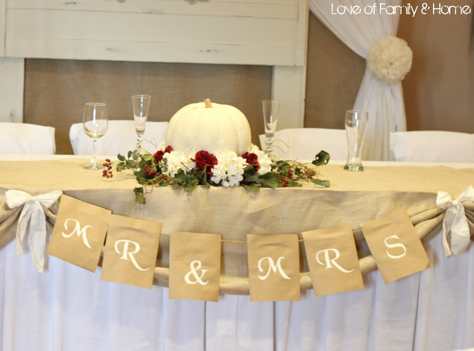 Do it yourself weddings rustic white featuring fall for At home wedding decoration ideas