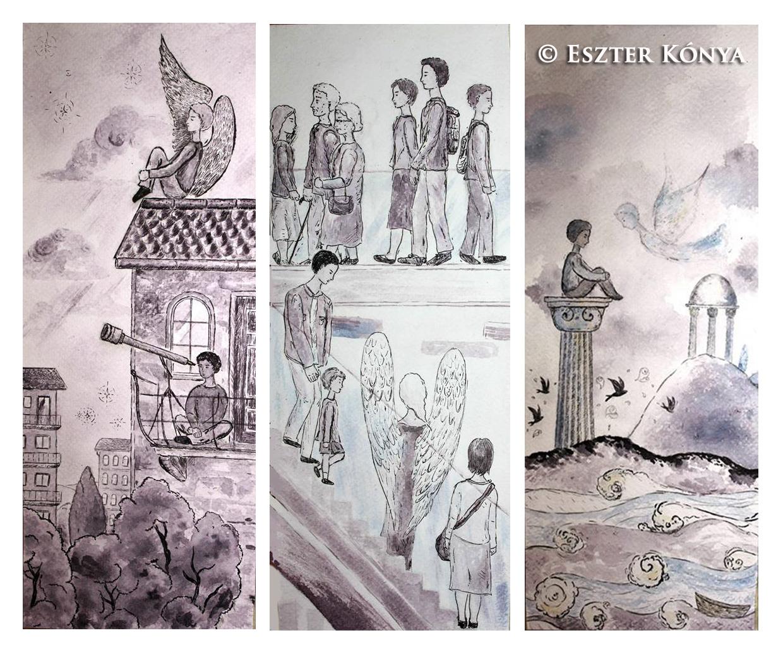 Kónya Eszter, grafika, Hamvas Béla, csend
