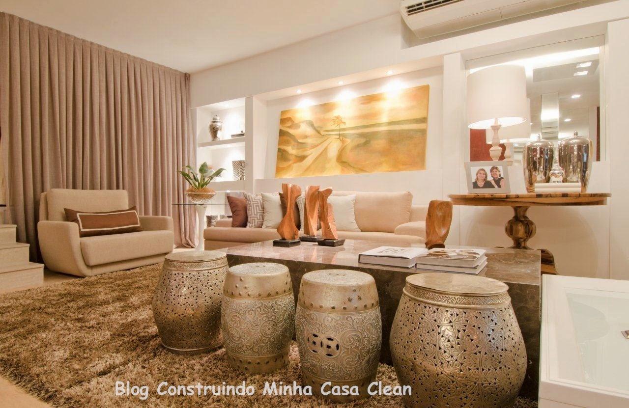 #B27719 Construindo Minha Casa Clean: Dourado na Decoração da Casa!!! 1280x831 píxeis em Cuadros Modernos Para Sala De Estar