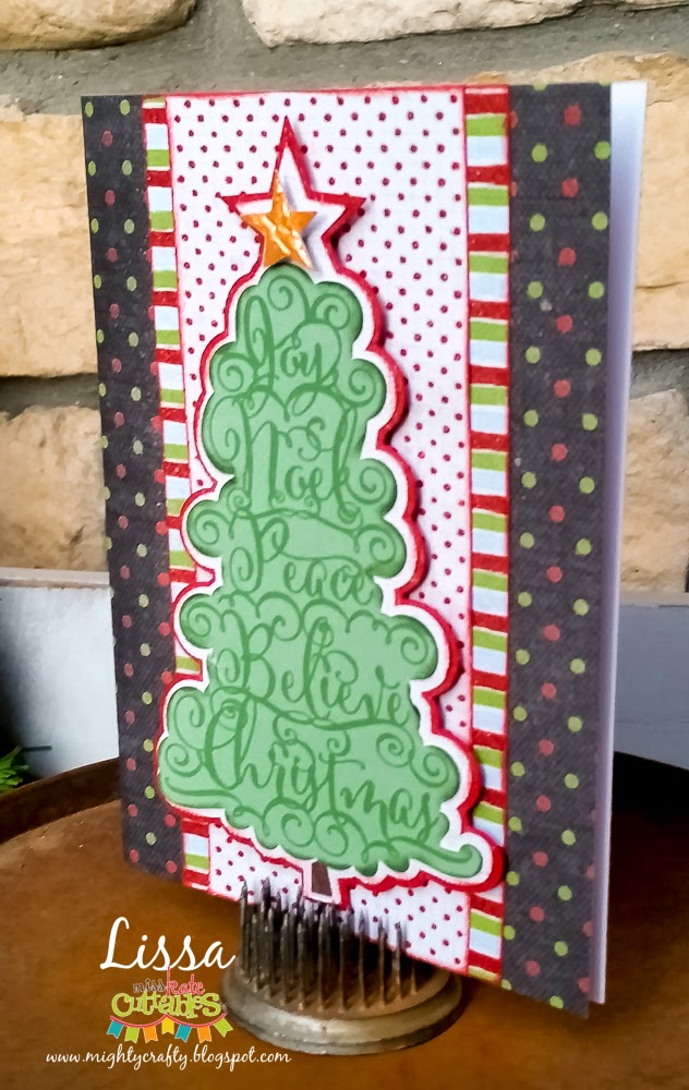 Christmas Word Tree Card by Lissa for Miss Kate Cuttables