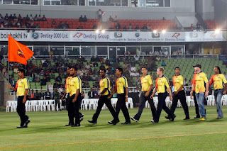Dhaka Gladiator on the BPL opening ceremony at Mirpur Dhaka