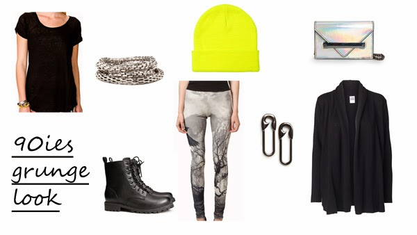 5 ways to wear print leggings 90ies grunge look