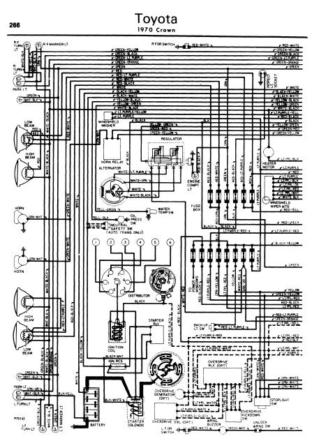 toyota crown 1962 70 wiring diagrams online manual sharing rh manualtransformer blogspot com wiring diagram toyota crown 2jz-ge Toyota Tacoma Trailer Wiring Diagram