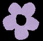 小さな花のイラスト「パステル・紫」
