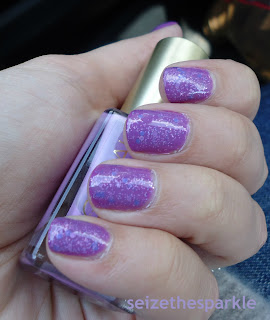 China Glaze Gothic Lolita, SOPI Sugar Plum Faeries Gone Wild, L'Oreal Lilac Coolers