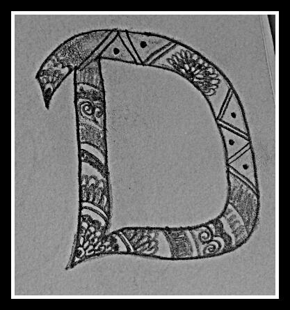 Doodle of d