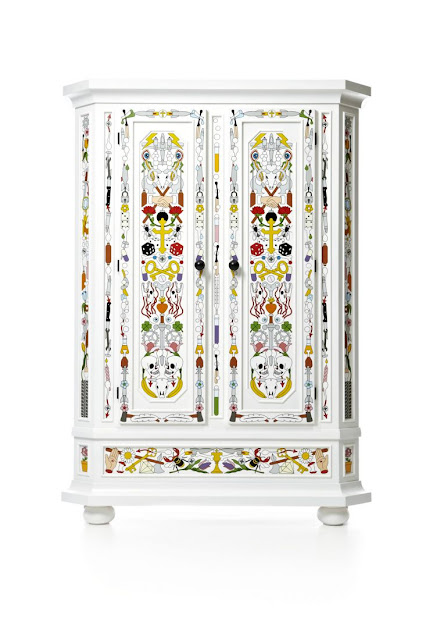 painted cabinet, fun, wardrobe, white, crisp