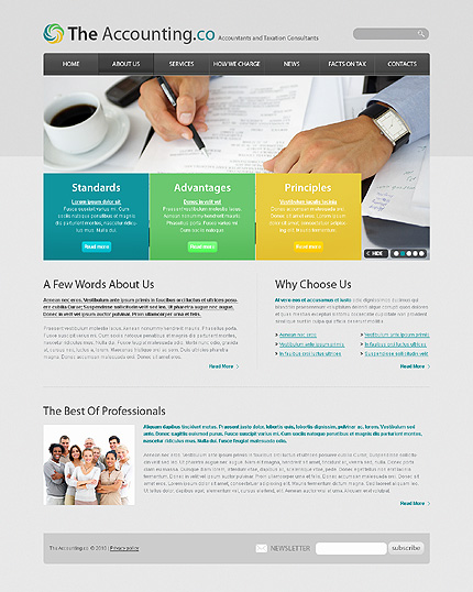 Accounting Website Templates6