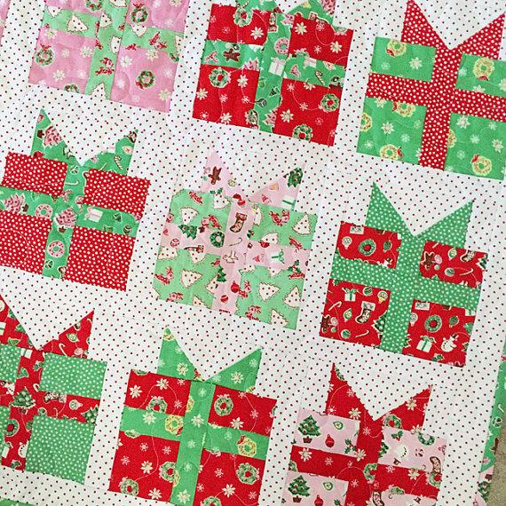 Fort Worth Fabric Studio Christmas Present Mini Quilt