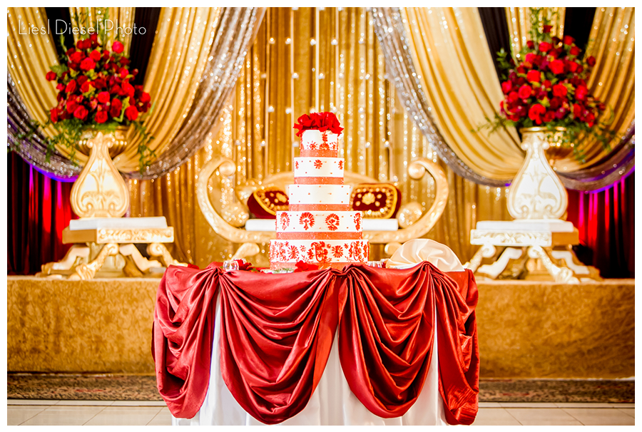Sonal j shah event consultants llc red and gold decor ideas for Muslim wedding home decorations