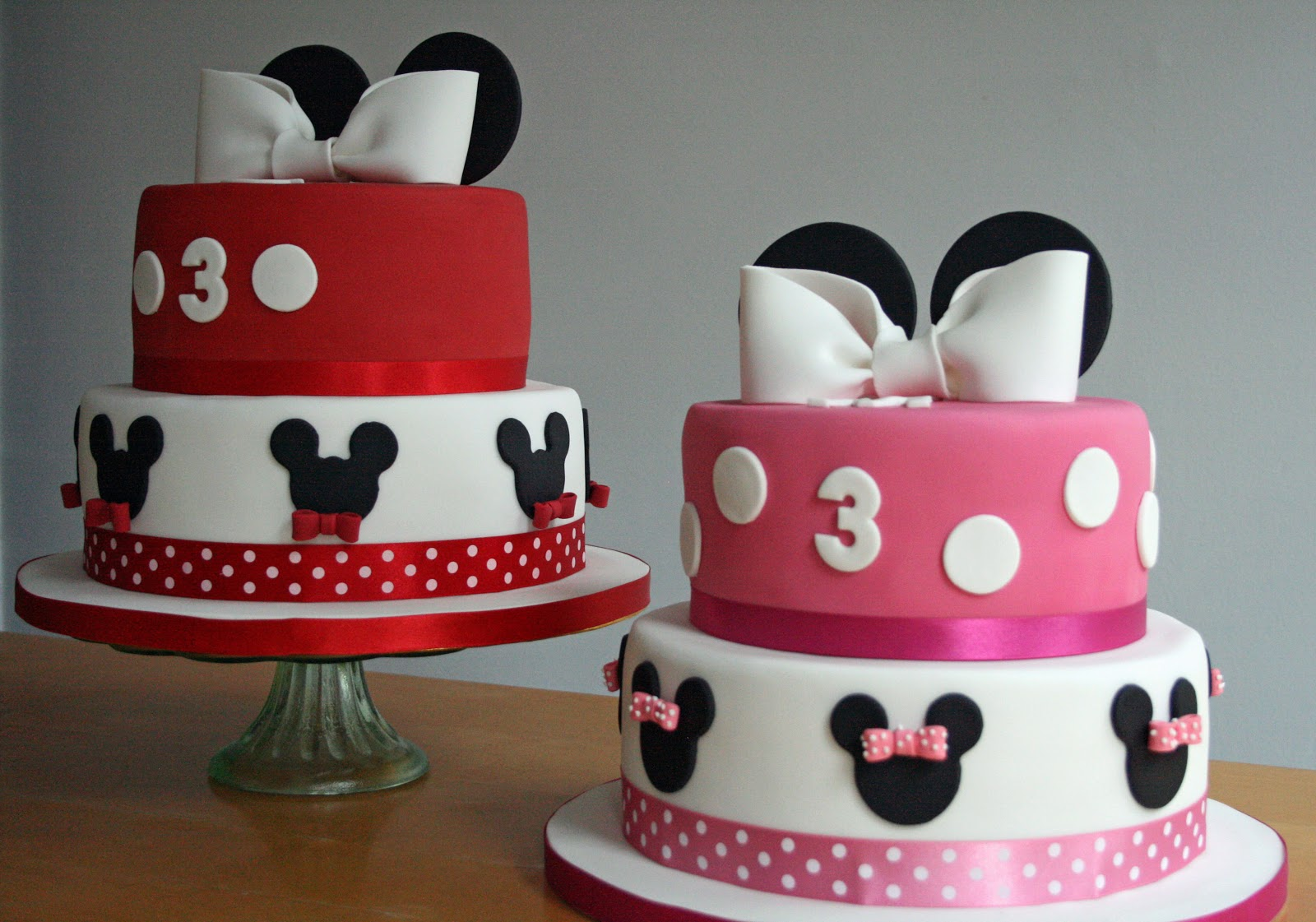Lauralovescakes Minnie Mickey Birthday Cakes
