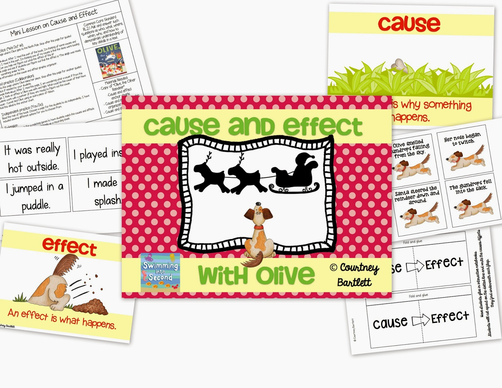 http://www.teacherspayteachers.com/Product/Cause-and-Effect-minilesson-with-Olive-the-Other-Reindeer-1585863