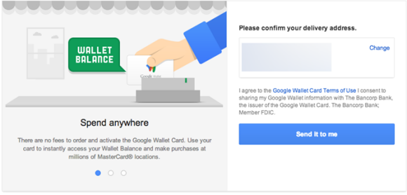 how to use google wallet card
