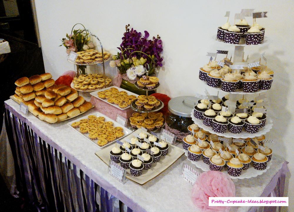 pretty cupcake ideas purple themed dessert table. Black Bedroom Furniture Sets. Home Design Ideas