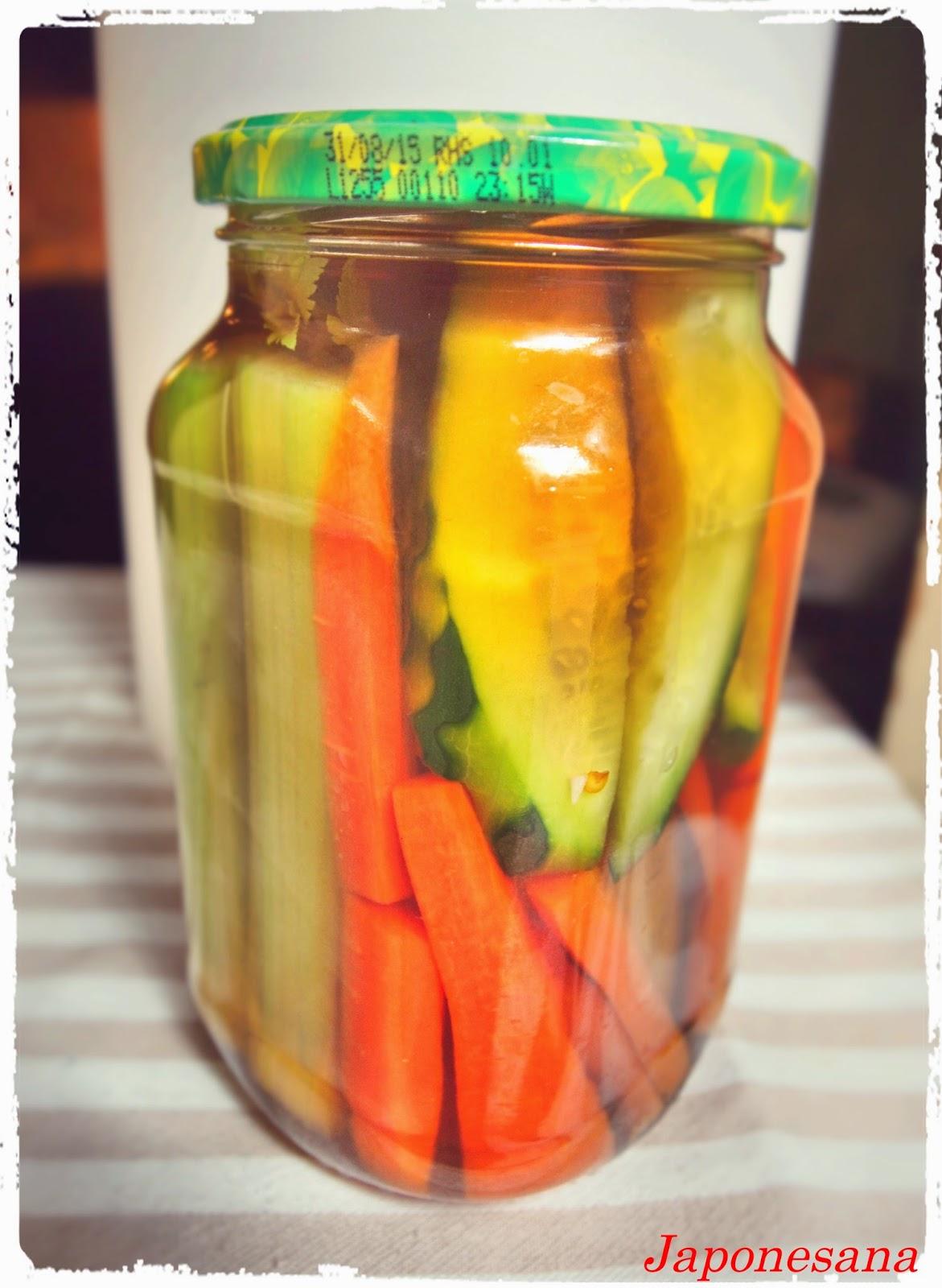 Japonesana encurtido de verduras - Encurtido de zanahoria ...