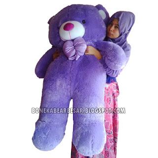 boneka teddy bear besar ungu