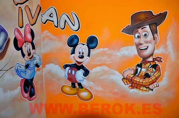 Graffitis Pixar y Disney