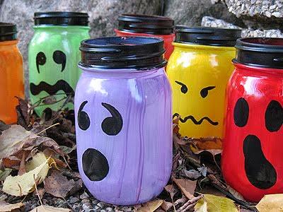 lanterne halloween, décoration fait main, facile