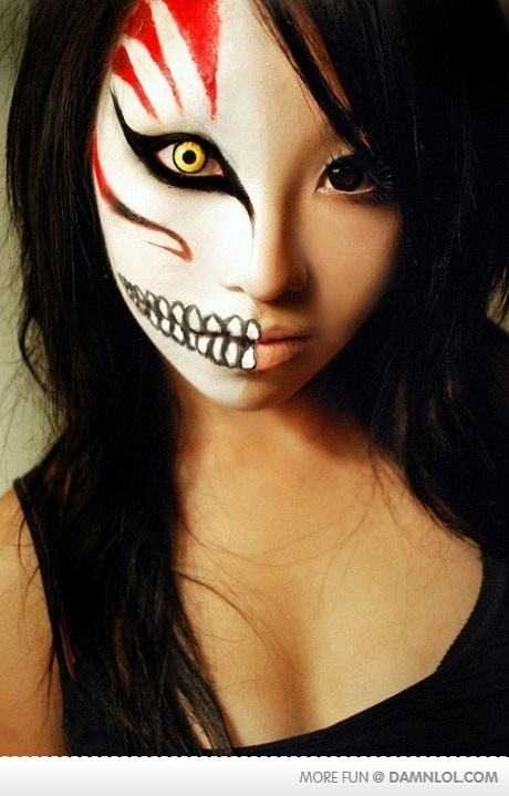 Awesome Art and Model: Halloween: Skeleton Face - Awesome Halloween Makeup