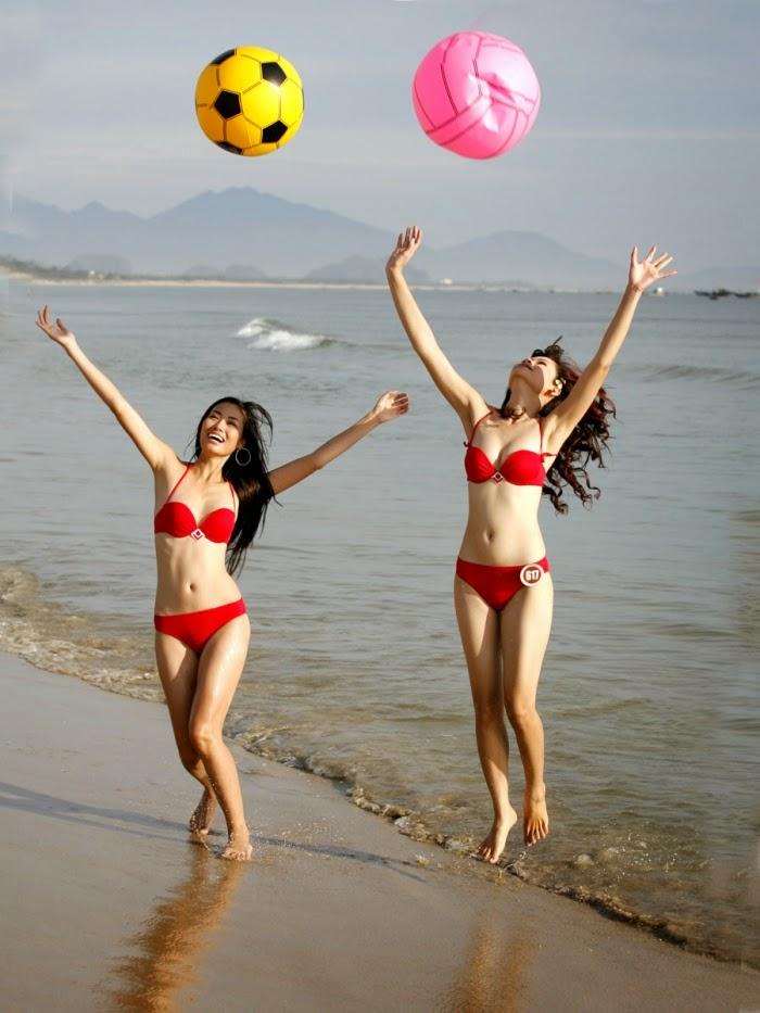Hoa hau viet nam mac bikini toa sac o bai bien 3