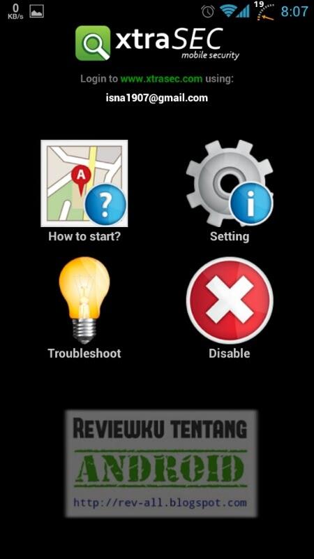8 Tampilan utama setealh berhasil- Tutorial pengaturan pertama XtraSEC oleh rev-all.blogspot.com