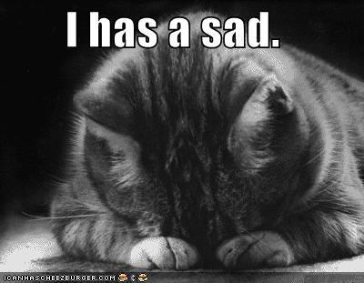 Me, Myself and My World: I'm sad....
