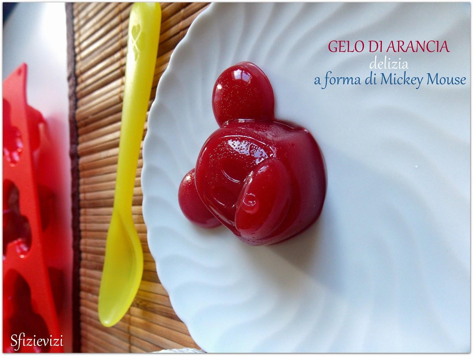 gelo d'arancia a forma di mickey mouse - ricetta velocissima e senza zucchero -