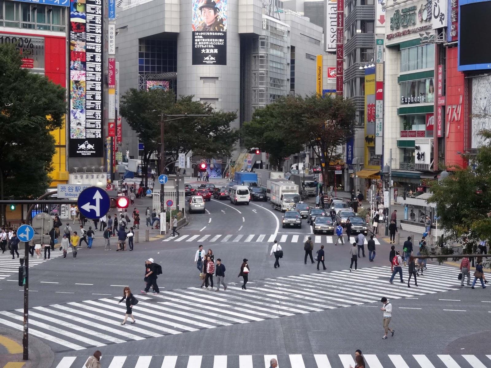 渋谷駅前スクランブル交差点,渋谷109,渋谷ハチ公前〈著作権フリー画像〉Free Stock Photos